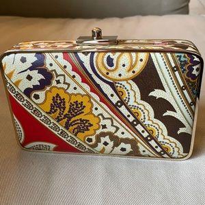J. McGlauglin Paisley Box Clutch Purse